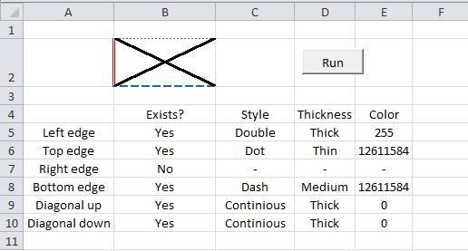 Excel VBA, Get Border Properties 4