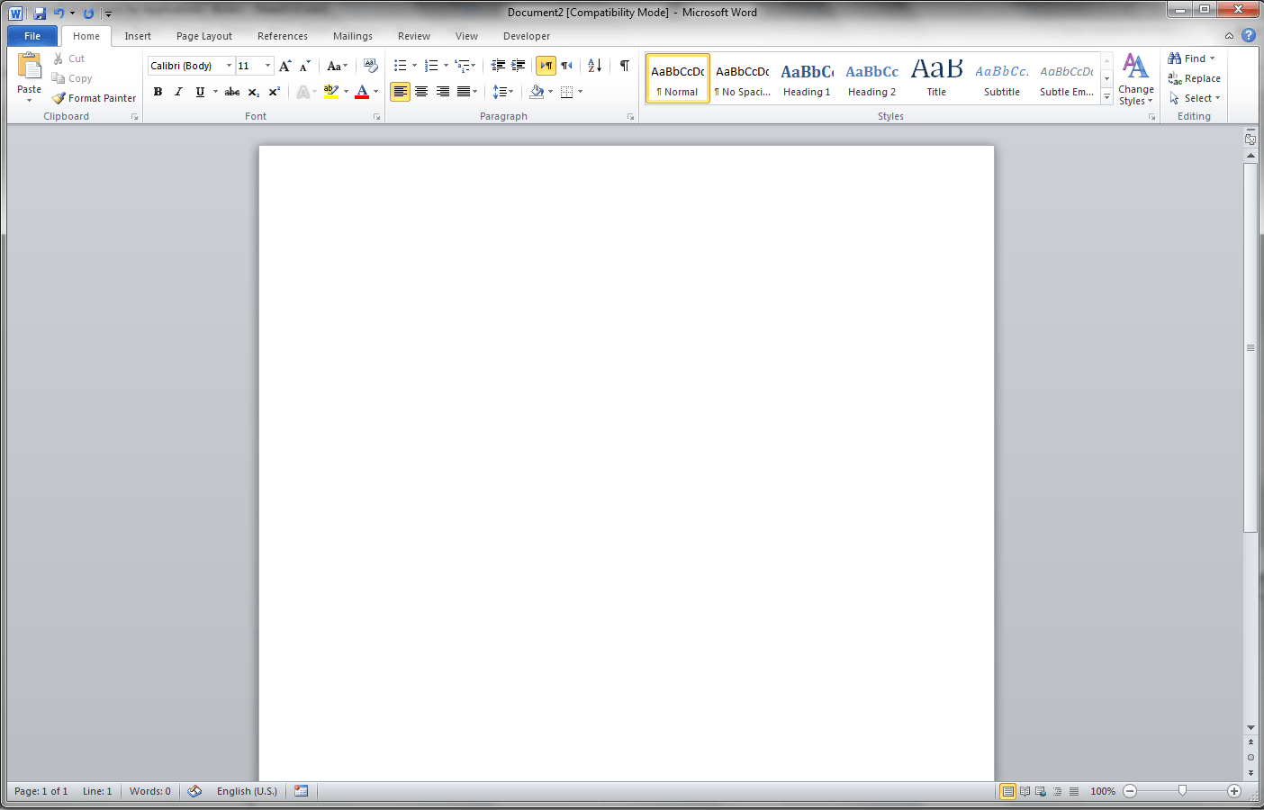 Empty Word Application