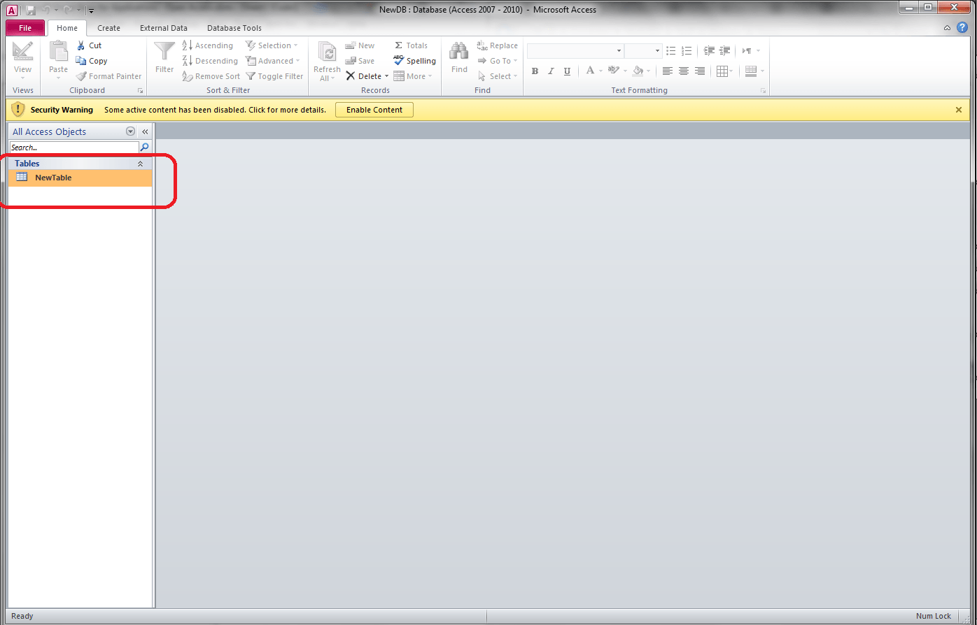 VBA, Open Access Database From Excel - VBA and VB Net Tutorials