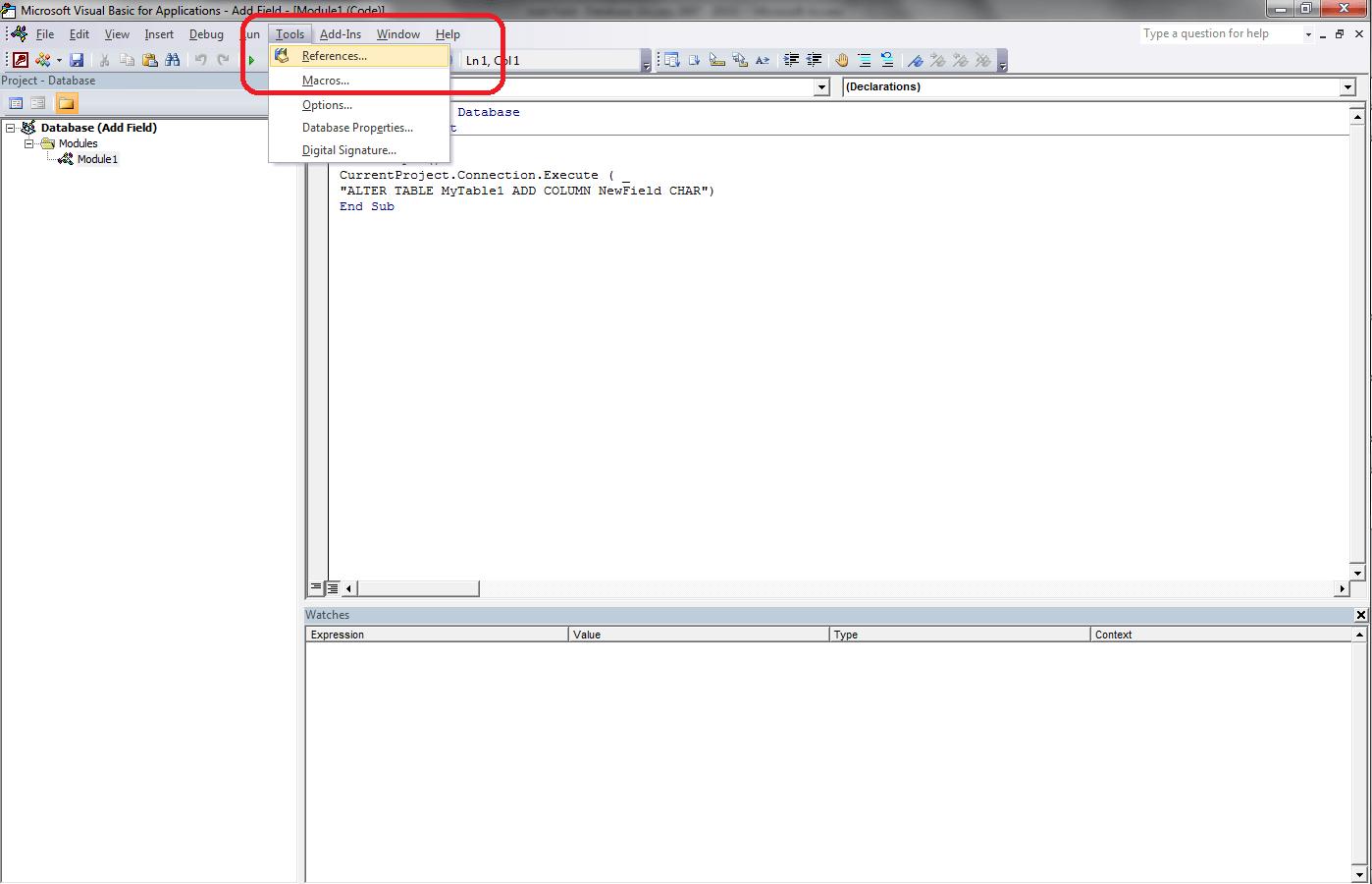 VBA Access Recordset, Object Library - VBA and VB Net