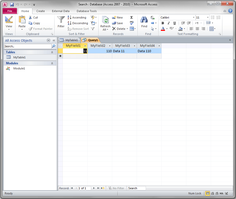 Simple Recordset Query Search , Access VBA - VBA and VB Net