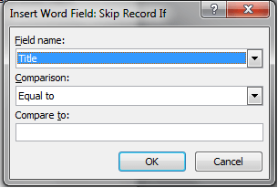 Skip Record If Window