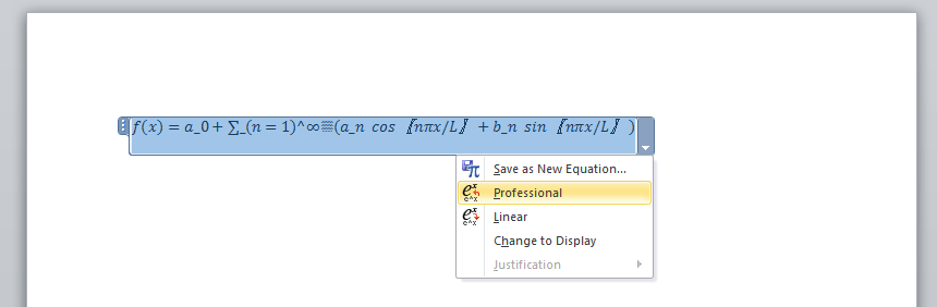 Word Equation Professional View