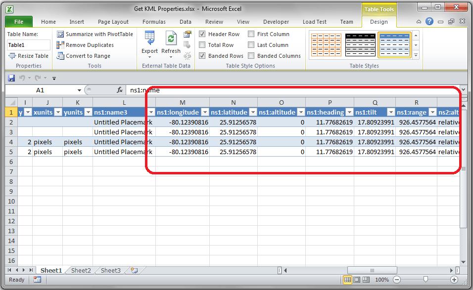 KML Data