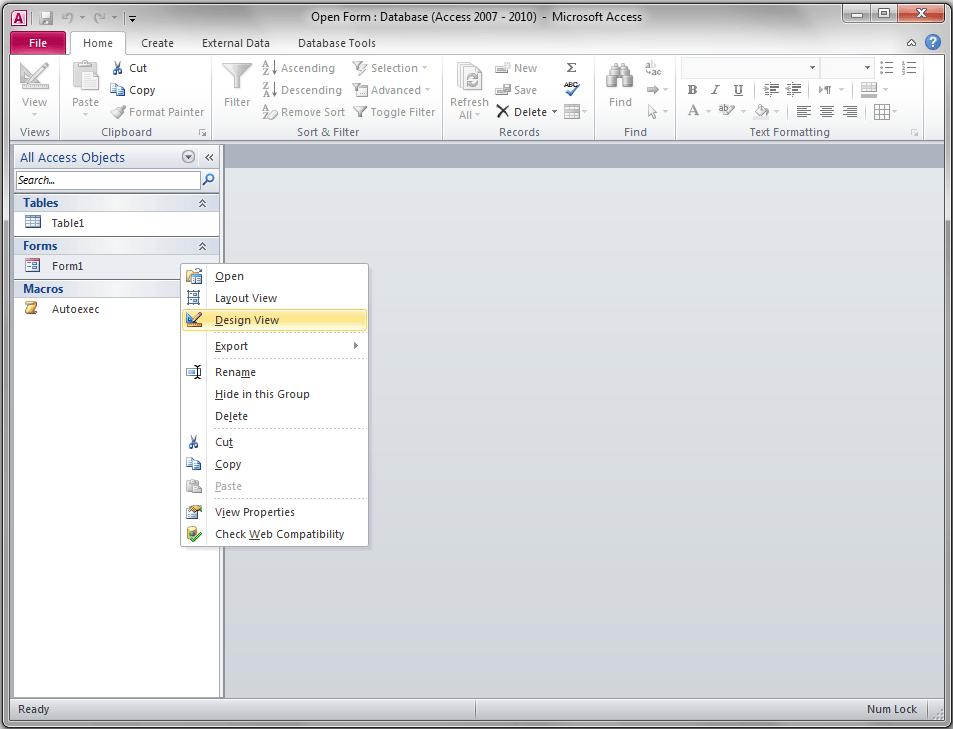 Access Form Design View - VBA and VB Net Tutorials