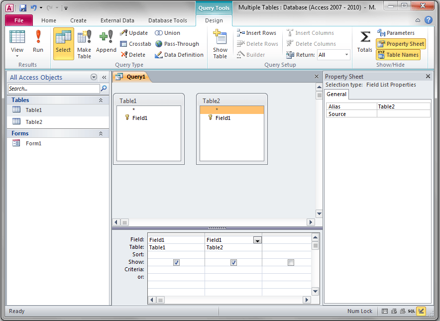 Access Forms Fields From Multiple Tables Vba And Vb Tutorials