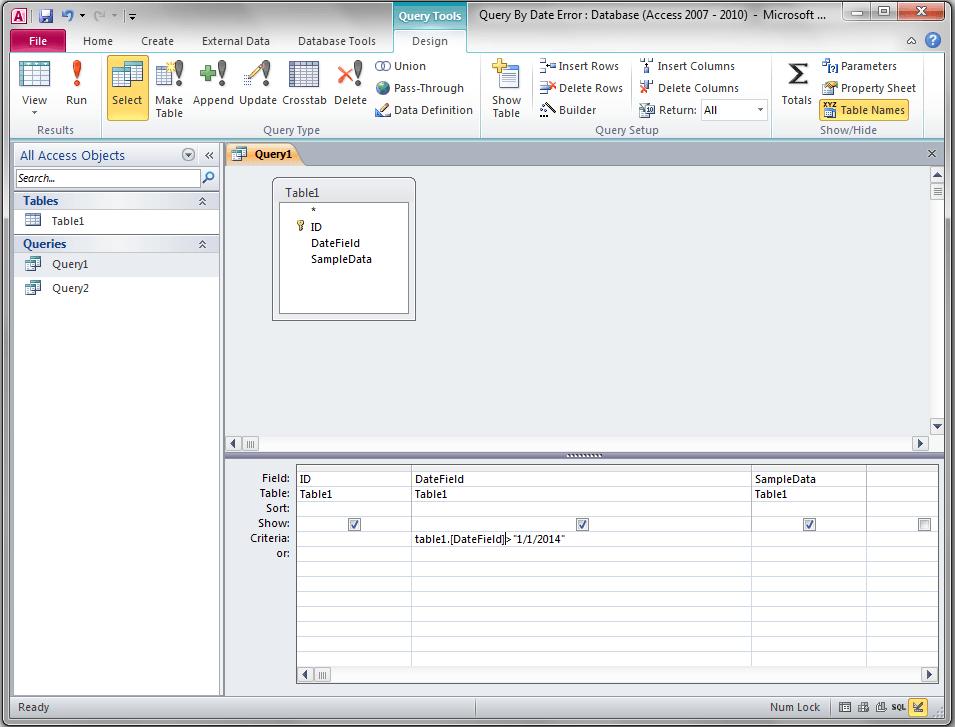 Query Dates Type Mismatch Error, Access - VBA and VB Net Tutorials