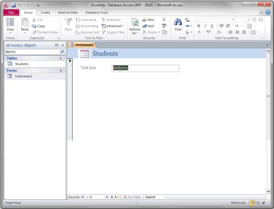 DLookUp, Access Expression Builder - VBA and VB Net