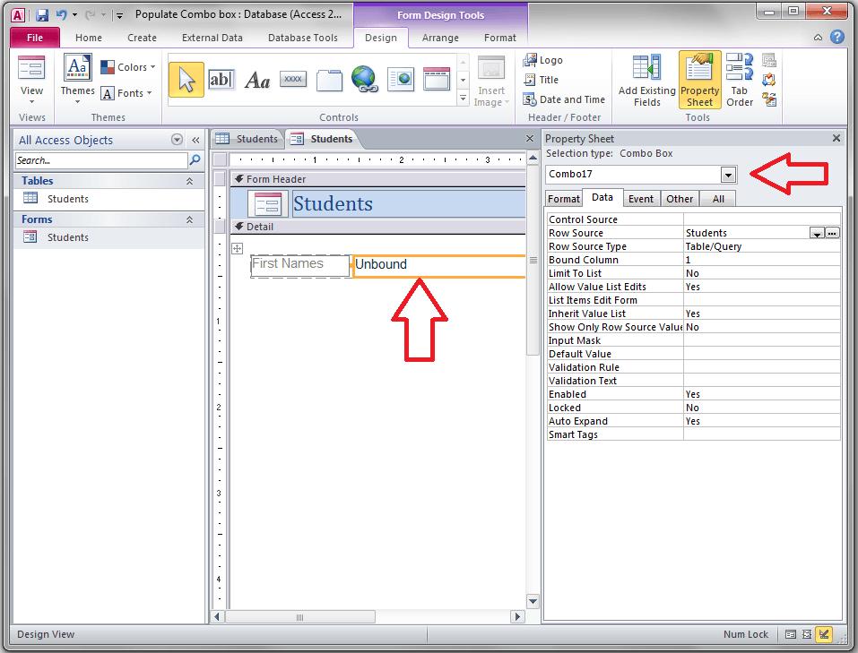 Select Combo box