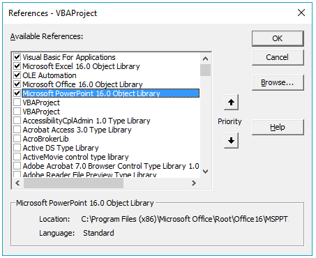 Accessing PowerPoint controls through Excel VBA - VBA and VB Net