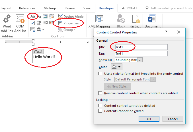 Access Word Objects through Excel VBA - VBA and VB Net