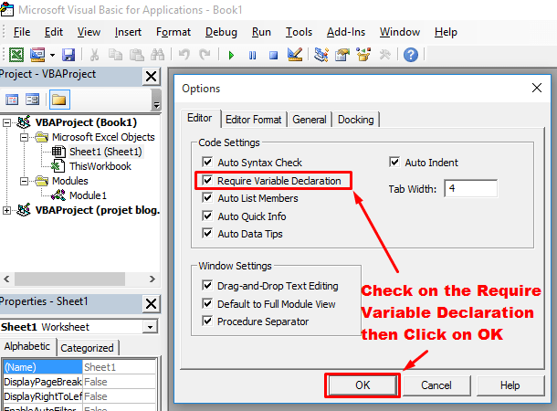 Check require variable declaration