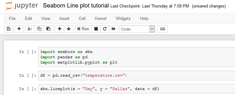 line plot code in jupyter notebook