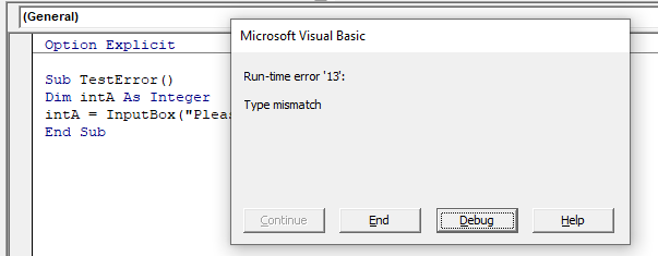 Run-time error 13 type mismatch