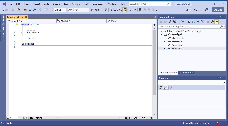 Visual Studio for VB.net