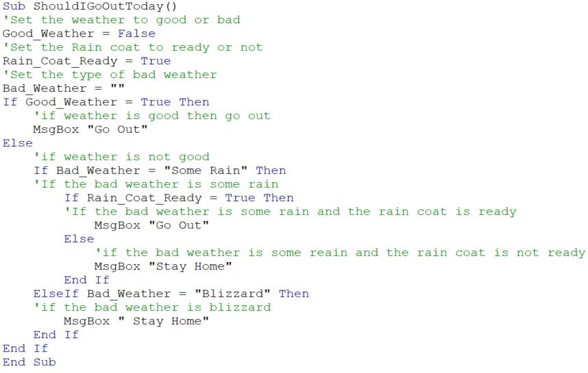 Example 1 vba code