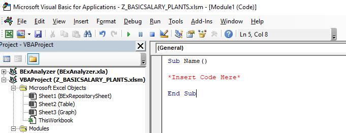 very basic sub code