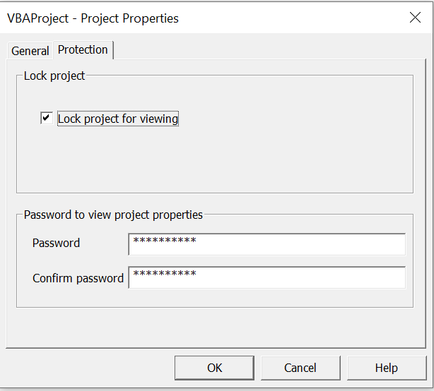 Set the project password