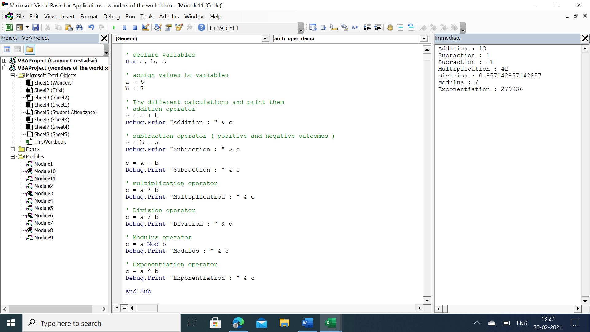 Your Guide to Using Operators in VBA   VBA and VB.Net Tutorials ...
