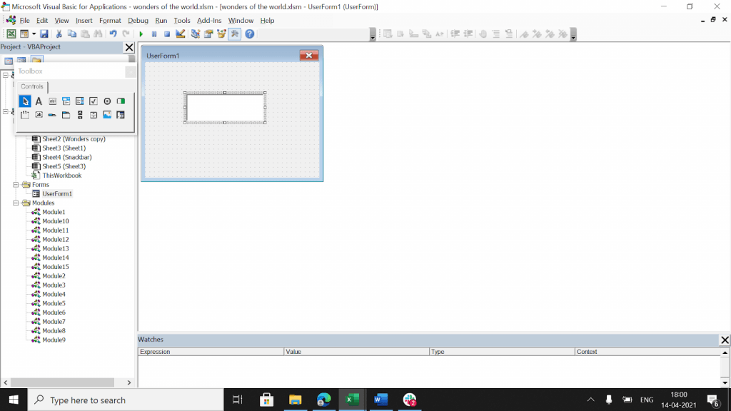 VBA code modeule to set properties of a text box.