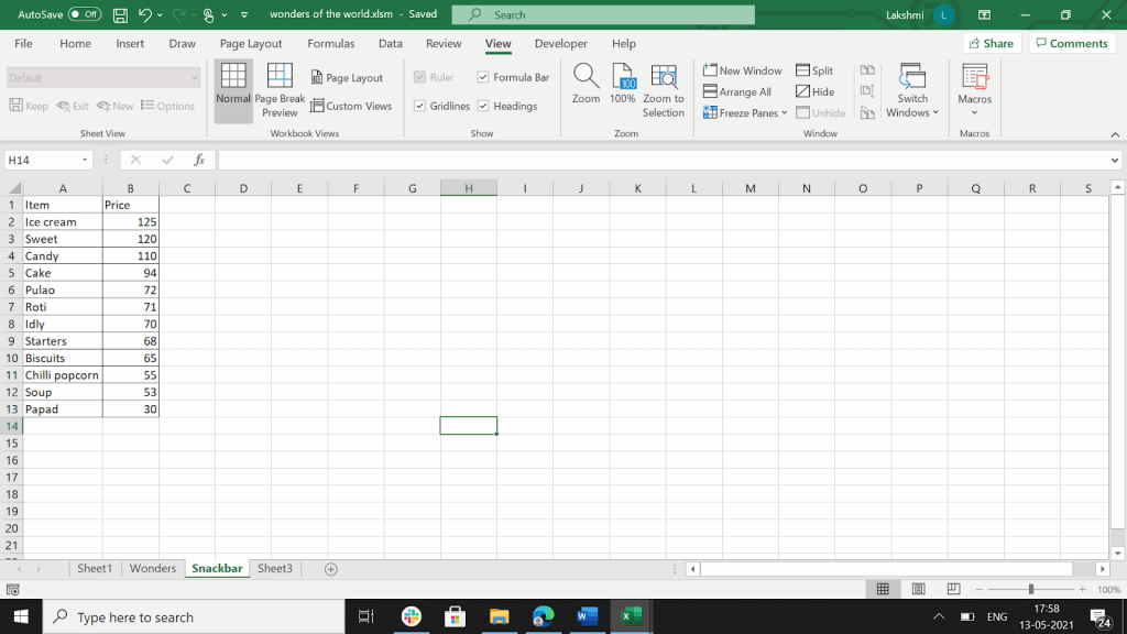 Example in EXCEL of a Boolean value.