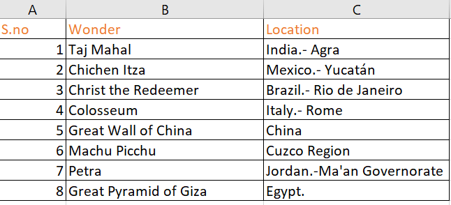 Index to reference the values of an array or a range in Excel.