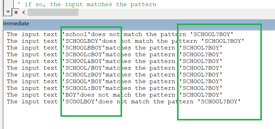 Examples of various input text values.