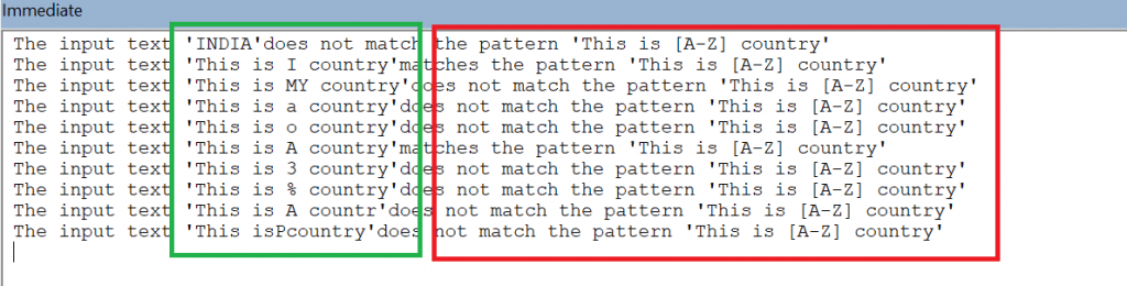 Example of character within square brackets
