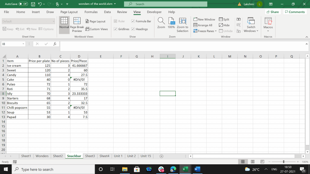Example of a program to past one column's cell values into another