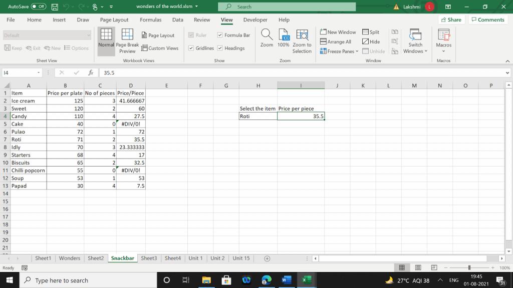 Example 1 of using a macro code in VBA.