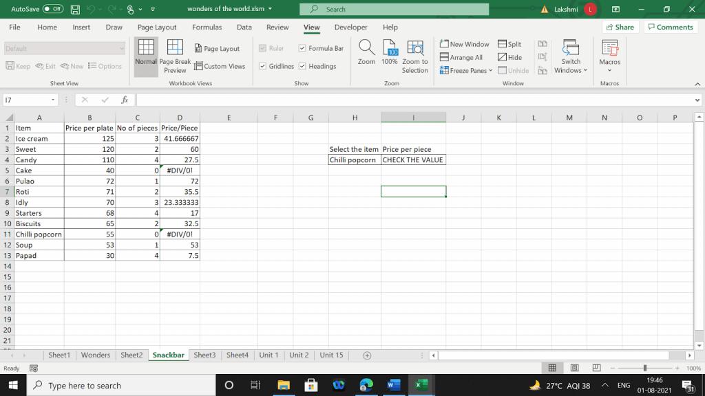Example 2 of using a macro code in VBA.